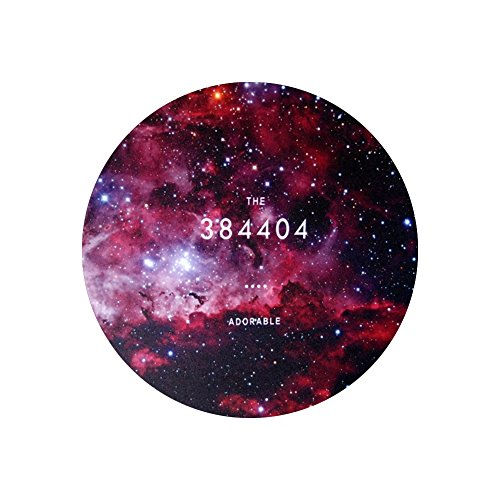 Space Galaxy Universe Planet Design Circular Mouse Pad (8.2 inches) (Adorable) (Adorable Mouse)