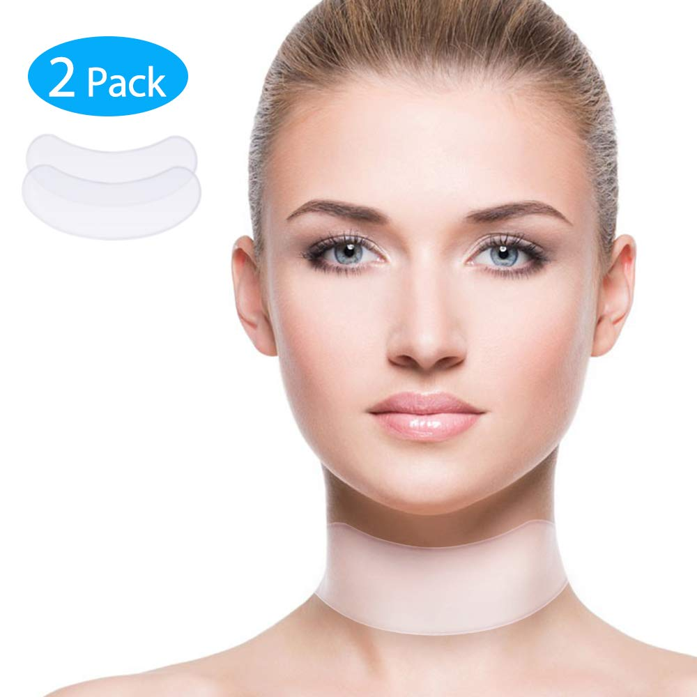 Anti Wrinke Silicone Neck Pad - Set of 2 Neck Tape Wrinkle Pads for Neck Wrinkle Prevention and Treatment - Reusable Overnight Anti Wrinkle Remover for Collette HailiCare