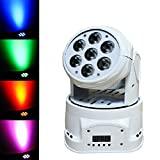 Sumger Ship By DHL 100W (7 Lights x 15W) RGBW Par Lighting 4in1 CREE LED Mini Moving Head DJ Disco Stage Party Effect Lighting With Sound Active And DMX512(White)
