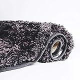 Plush Shag Bath Mat Rug Non Slip Backing Microfiber Absorbent 19.5 x 31.5 Inch (Dark Gray)