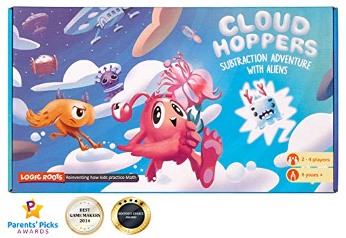 LogicRoots Cloud Hopper Addition and Subtraction Board Game Stem Toy Maths Resource… ()