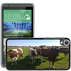 Hot Style Cell Phone PC Hard Case Cover // M00130529 Cows Pasture Animal Farm Grass // HTC Desire 820