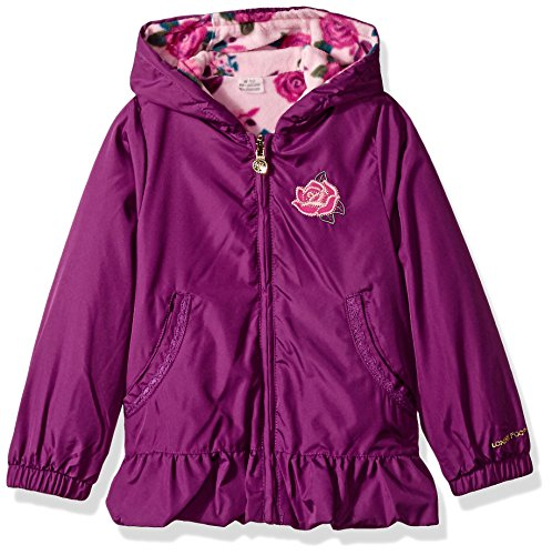 Toddler Reversible Jacket (London Fog Baby Toddler Girls' Midweight Reversible Jacket, Berry Treat, 2T)