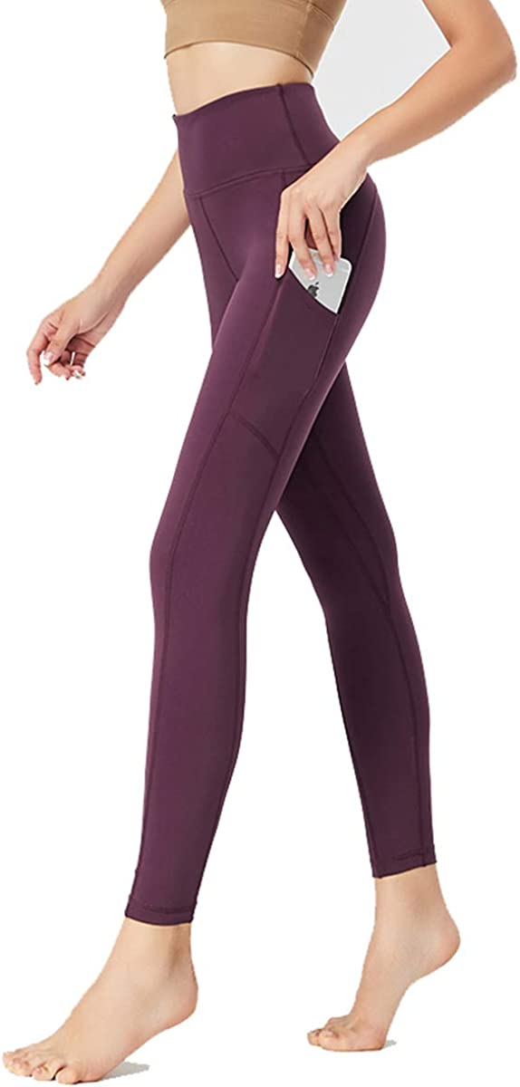 SS COLOR FISH Yoga Pants with Pockets – High Waist Tummy Control Workout Leggings Running Tights for Women