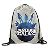 Earth Galaxy Cartoon Movie GXGML Print Rucksack Bags Unisex Fashion Drawstring Shoulder Backpacks Sport Backpack Casual Travel Bags Shoulder Pouch Beam Port Backpack Tote Canvas Bag Storage Bag One Sized White