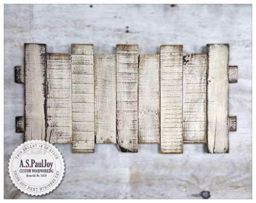 White Painted Distressed Rustic Hanging Pallet Art Wall Hanging Various sizes