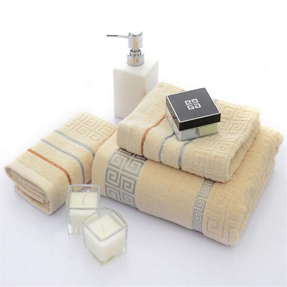 SKNSM Doux Coffret Cadeau de Bain en Coton 3 pi/èces avec Serviette de Bain Confortable Couleur : White