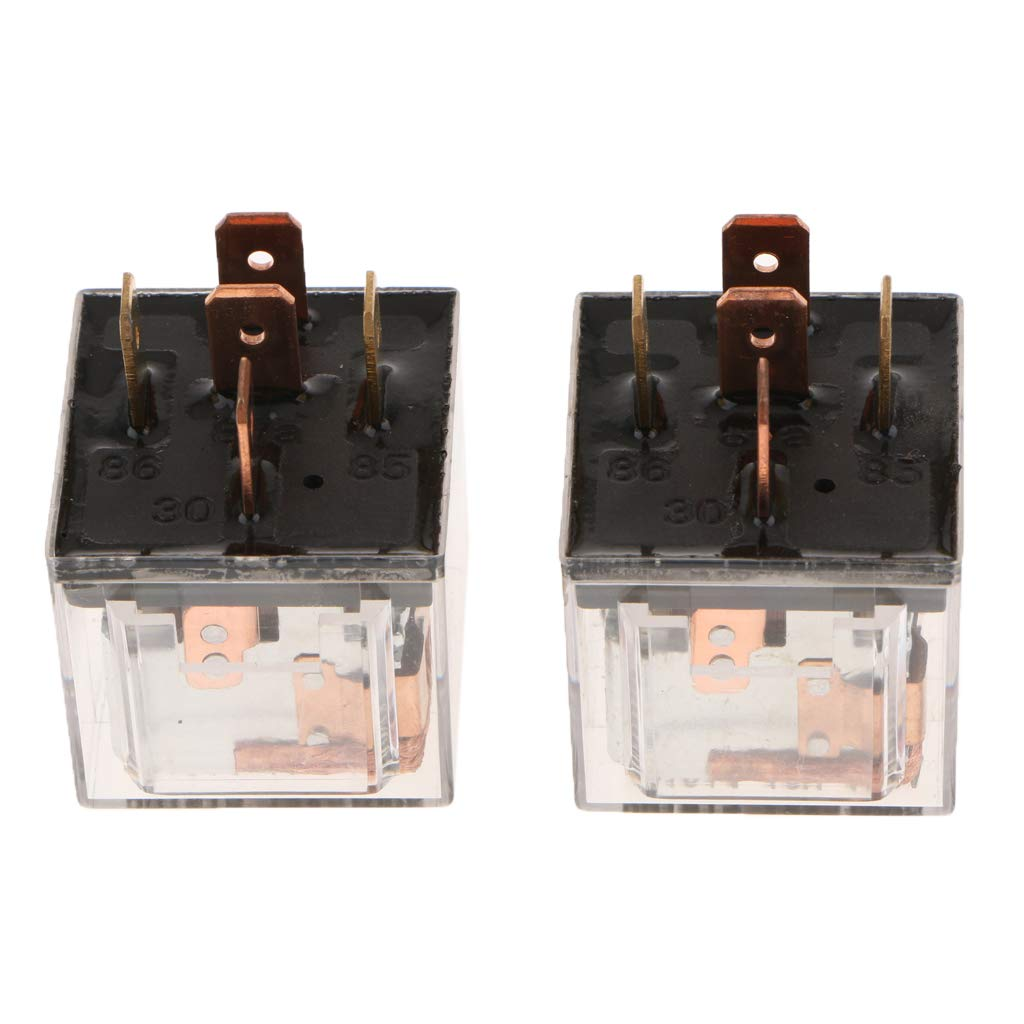 Baosity 2 Pieces 12V 100A 5 Pins Waterproof Automotive Car Truck Changeover Relays