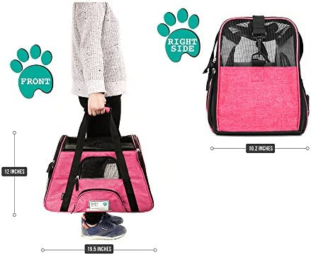 PetAmi Premium Airline Approved Soft-Sided Pet Travel Carrier by Ventilated, Comfortable Design with Safety Features | Ideal for Small to Medium Sized Cats, Dogs, and Pets 3