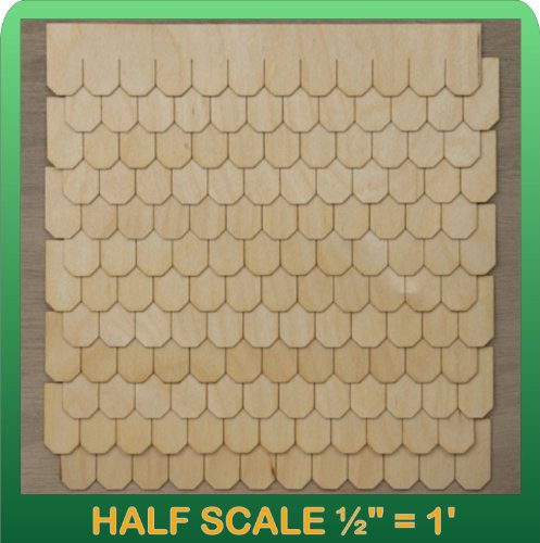 "Greenleaf Doll Houses 1/2"" Scale Miniature Octagon Shingle Strips Half Scale"