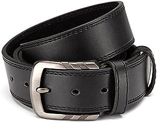 Eg-Fashion Stylischer Herren Pu-Leder Gürtel Jeans Gürtel 3,8 cm Breite- Individuell kürzbar