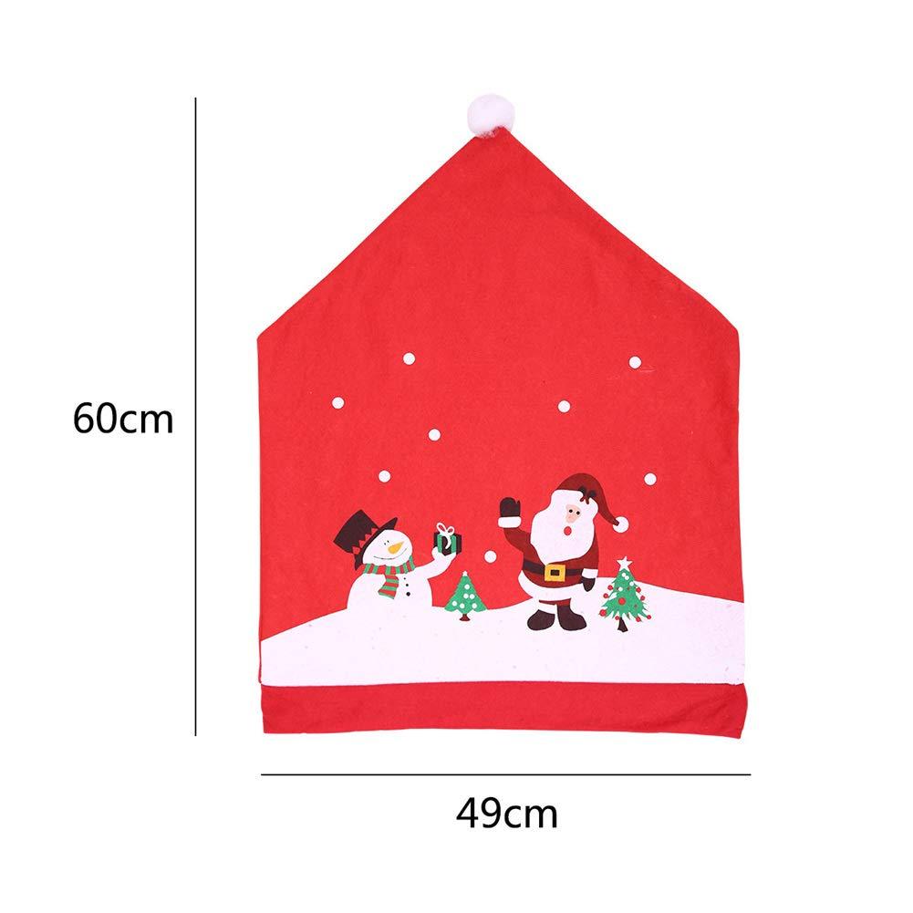 2//4/PCS Natale Dining Coprisedia in alta qualit/à plastica morbide e tenui colore 60/* 49/cm decorazione della casa ecologico e sano per la tua famiglia
