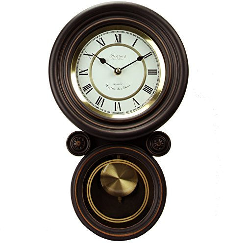 (Bedford Clock Collection Contemporary Round Wall Clock with)