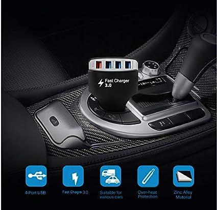 kgftdk Cargador De Coche Universal 4 USB Cargador De Coche ...