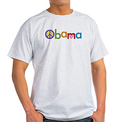 Obama Ash Grey T-shirt - CafePress Peace, Love, Obama 100% Cotton T-Shirt Ash Grey