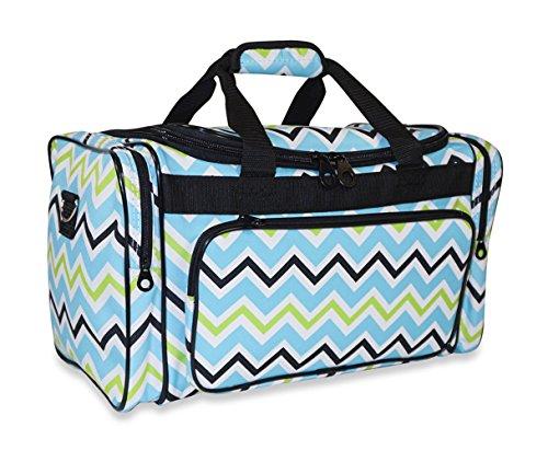 Ever Moda Multi-color Chevron Medium Duffle Bag (Green)