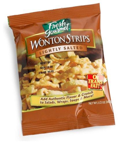 Fresh Gourmet Wonton Strips, 0.5-Ounce Bags (Pack of 100)