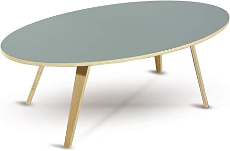 Garageight A1901 Oval Coffee Table Plywood Amazon De Kuche Haushalt
