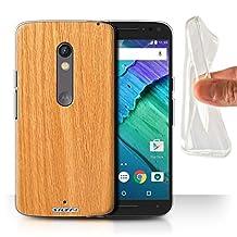 STUFF4 Gel TPU Phone Case / Cover for Motorola Moto X Play 2015 / Pine Design / Wood Grain Effect/Pattern Collection
