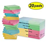 ZCZN 4 Color Sticky Notes,3 in x 3 in 20 Pads/Pack 100 Sheets/Pad Self-Sticky Notes (20 Pads)