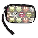 CMTRFJ Unisex Wallet for Woman Ladies -Colorful Owls Purse Bag Men Gentlemen