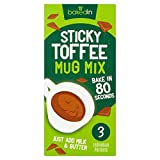 Bakedin Sticky Toffee Mug Cake Mix - 3 x 45g (0.3lbs)