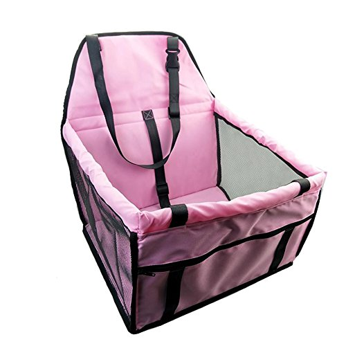 ANONE Pet Front Seat Cover for Cars Pet Carrier by Pet Peppy-Extra Spacious Soft Sided Carrier (40X30X25CM, Pink)