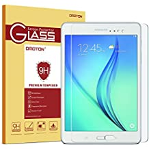 Samsung Galaxy Tab A 8.0 Glass Screen Protector, OMOTON 0.26mm Tempered-Glass Protector with [9H Hardness] [Crystal Clear] [Scratch-Resistant] [Bubble Free Easy Installation],