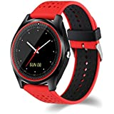 V9 Smart Watch Smartwatch Bluetooth Sweatproof Phone with Camera TF/SIM Card Slot Band Replaceable
