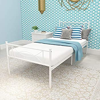 Amazon Com Simlife Metal Bed Frame Solid 6 Legs Two