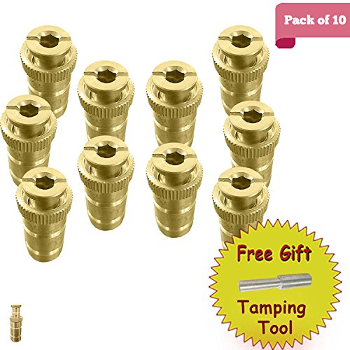 Anchor Safety Pool Covers (Brass Anchor for Pool Safety Cover - 10 Pack)