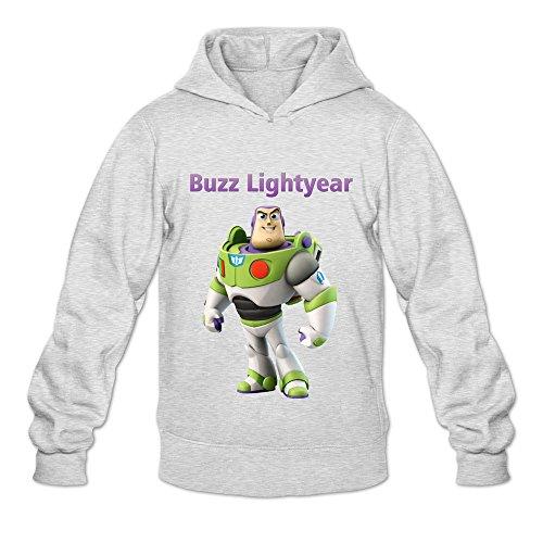 Buzz Lightyear Unique 100% Cotton Ash Long Sleeve Sweatshirts For Adult Size L