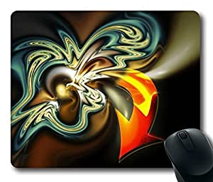 Abstract Orange Arrow Gaming Mouse Pad Personalized Hot Oblong Shaped Mouse Mat Design Natural Eco Rubber Durable Computer Desk Stationery Accessories Mouse Pads For Gift - Support Wired Wireless or Bluetooth Mouse by Maris's Diary