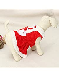 Win Bargain World Pet Puppy Dog Christmas Costume Coat Clothes Skirt Dress compare
