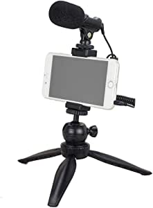 YouTube Starter Kit, Tubace Smartphone Video Microphone with Mini Tripod, Vlog YouTube Filmmaker Video Kit Compatible with iPhone 7 8 X XS MAX 11 Pro Samsung Huawei