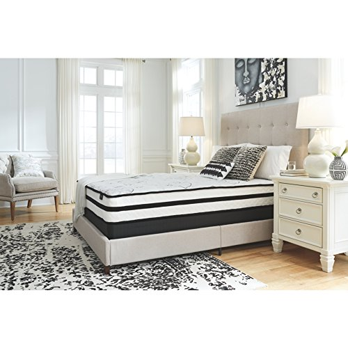 Ashley Furniture Signature Design - 10 Inch Chime Express Hybrid Innerspring - Firm Mattress - Bed in a Box - Full - White