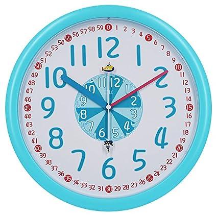 Amazon.com: Y-Hui Wall Clock Clock Children\'S Bedroom Clocks Quartz ...