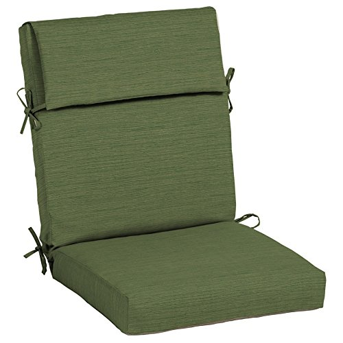(6) Outdoor Patio Chair Cushions ~ Solid Green Olefin ~ 20 X 45 X