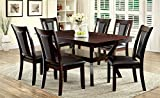 Furniture of America Dalcroze 7-Piece Modern Dining Set, Dark Cherry Review
