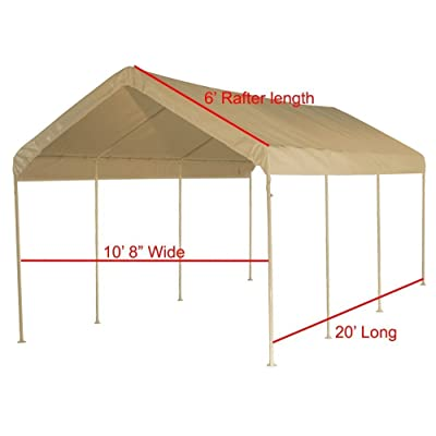 "Shade Cloud Canopy Replacement Cover 10'X20' Beige Tarp Top Roof Canopy Replacement Cove (Beige 1-1/2""-2"" Leg Poles) : Garden & Outdoor"