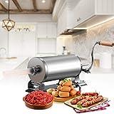 Goplus 6Lb/3.6L Horizontal Sausage Stuffer Maker Stainless Steel Meat Filler Kit w/ 4