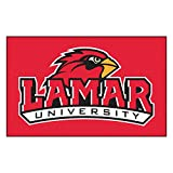 Fanmats Team Support Outdoor Sports Carpet Decorative Accessories Logo Printed Lamar University Ulti-Mat 60''96''