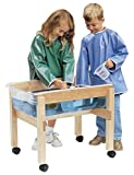 Childcraft Mobile Mini Sand and Water Table Without Cover, 30 x 19-1/4 x 22-1/8 Inches