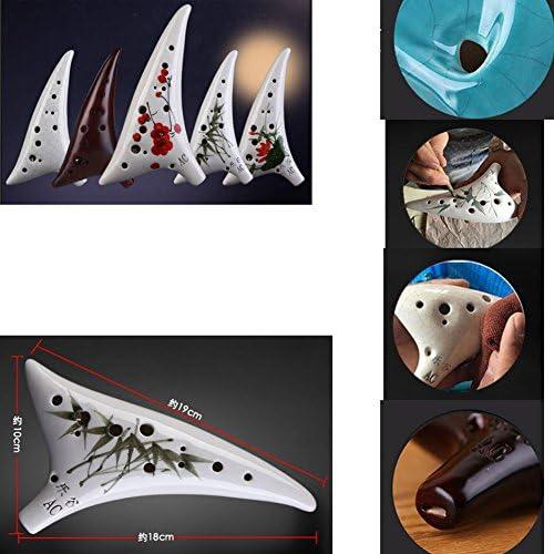 クラシックセラミックスオカリナ12ホールアルトCオカリナ楽器おもちゃ