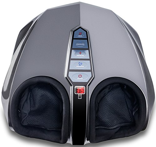 Home Foot Massager (Miko Shiatsu Foot Massager With Deep-Kneading, Multi-Level Settings, And Switchable Heat Charcoal Grey)