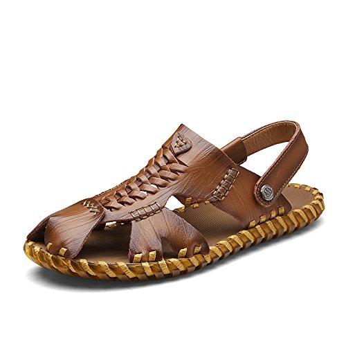 Xing Lin Sandalias De Verano Los Hombres Calzado Casual _ Transpirable En Verano Romano Calzado Casual Sandalias Tejidas A Mano Khaki