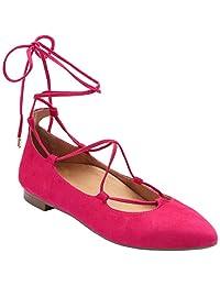 Vionic Womens Gem Lucinda Lace Up Ballet Flat