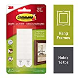 Command Picture Hanging Strips, Large, White, 4 Pairs