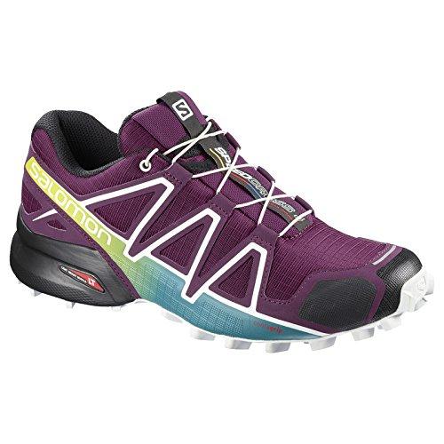 foncé de bleu 4 vif Mujer Running blanc para Speedcross Trail W violet Salomon Zapatillas qHvwZAAx