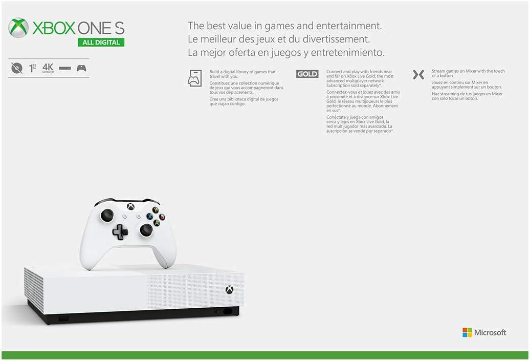 Amazon.com: Xbox One S All-Digital Edition (Discontinued ...